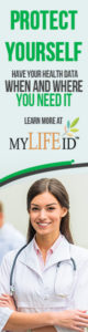 MyLifeID - Healthcare - Protect yourself - Have your health data when and where you need it 160x600